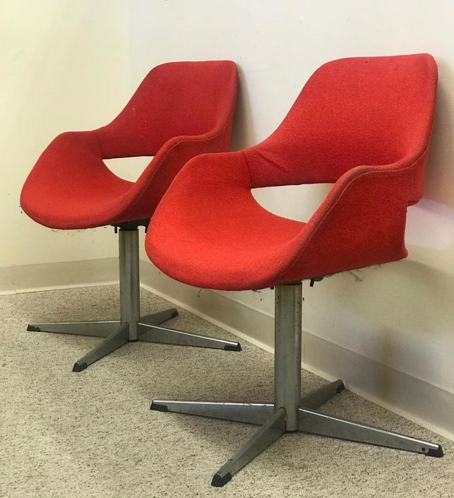 Free Shipping Within US- Pair of Arthur Umanoff Mid Century Chair by BigWhaleConsignment