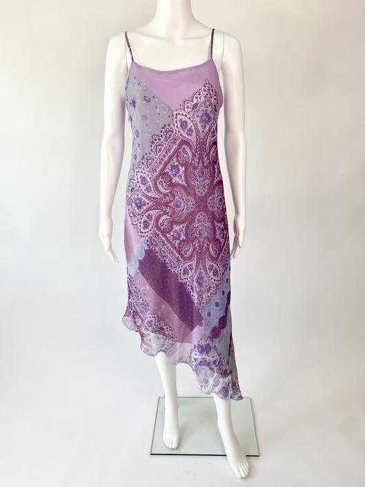 Lilac Asymmetrical Handkerchief Dress