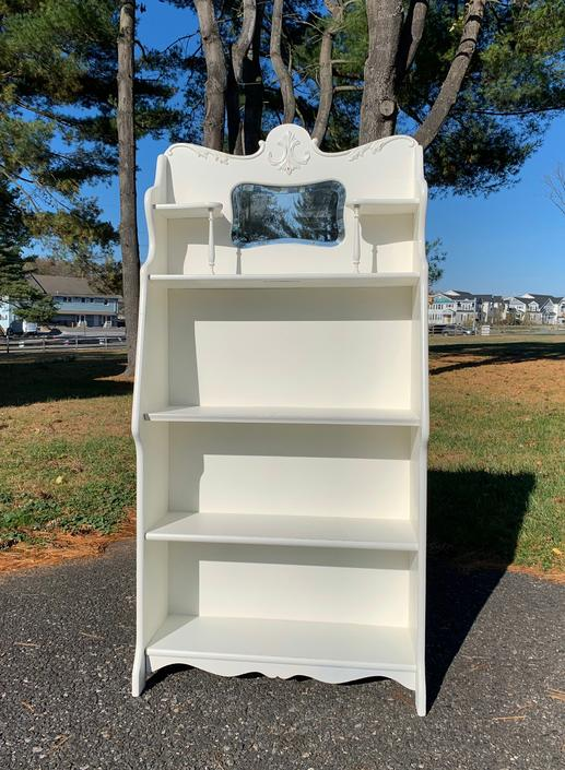 NEW - Antique White Larkin Desk Turned Bookshelf by ForeverPinkVintage