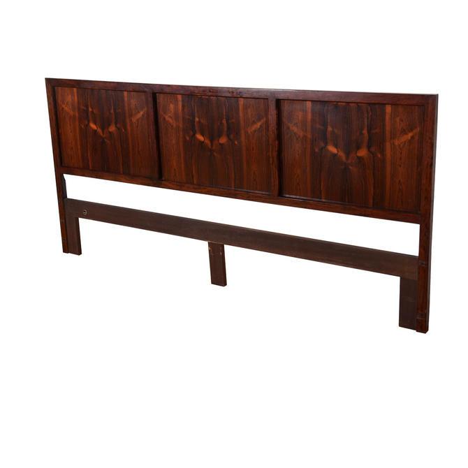 Reversible Danish Modern Rosewood King Headboard