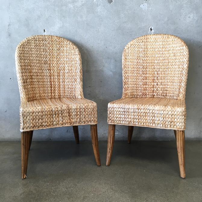 Pair of Vintage Rattan Chairs