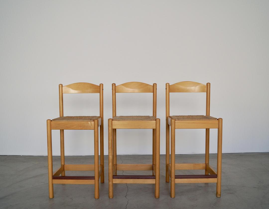 Cool Awesome Set Of Three Mid Century Danish Modern Counter Uwap Interior Chair Design Uwaporg