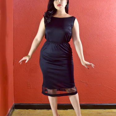 1950s 60s Pucci Sheath Silk Jersey Black Dress LBD Emilio Pucci Saks Fifth Avenue by THEGIRLCANTHELPITUSA