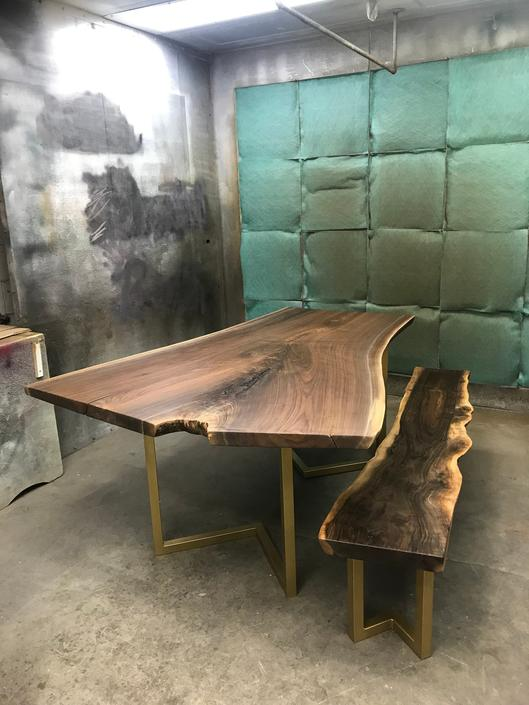 Custom Live Edge Dining Table by TheBeardedBowtie
