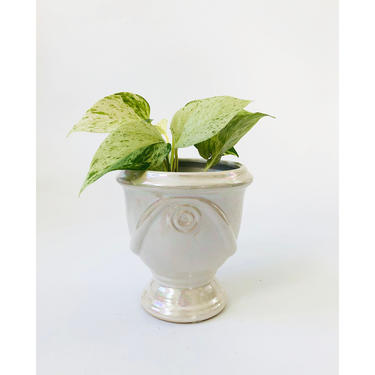 Vintage Iridescent Ceramic Planter by SergeantSailor