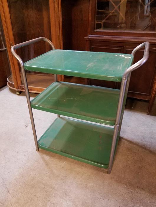 Green Metal Table