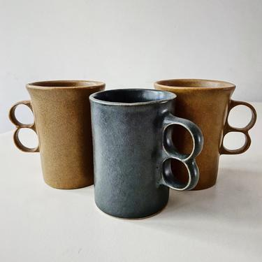 Vintage Bennington Cups Trigger Mugs By David Gil Potters Cooperative Design Vermont Pottery American Mid Century by CaribeCasualShop