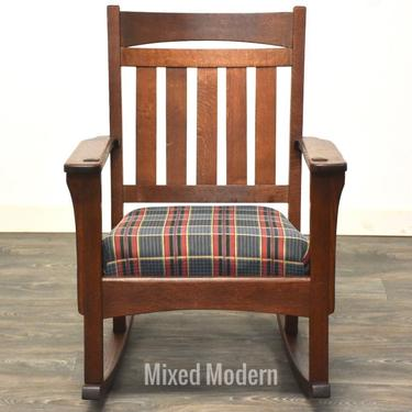 Antique Stickley Style Rocking Chair Circa 1910 by mixedmodern1