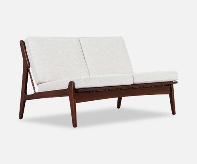 Ib Kofod-Larsen Armless Love Seat Sofa for Selig