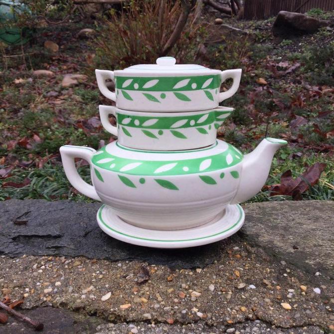 Art Deco Tea Set Japan MidCentury Stacking by BrainWashington