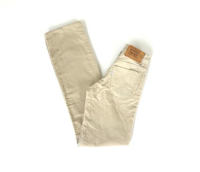 Levi's Corduroy 716 Slim Vintage Pants / Size 21 22 XXS by NoteworthyGarments