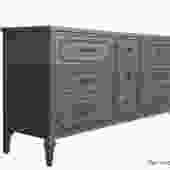 Gentleman's Gray Dresser