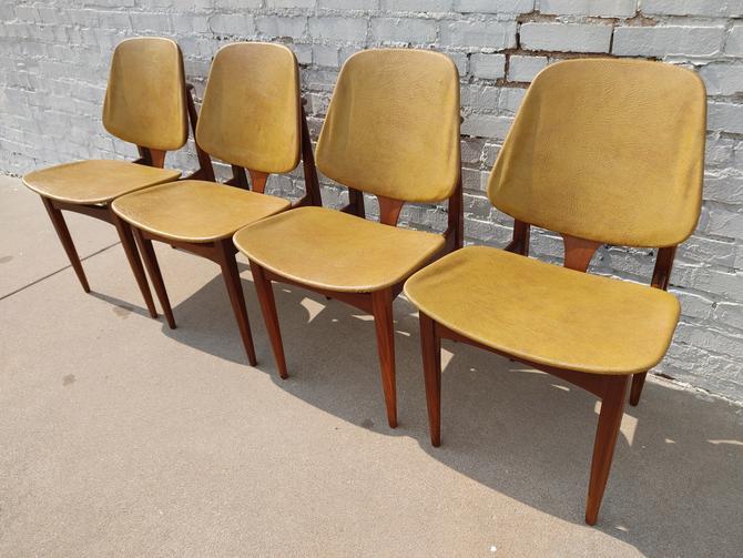 Mid Century Modern Teak Dining Chairs by Elliots of Newbury by VintageVaultTulsa