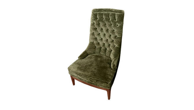 Tufted High-back Chair