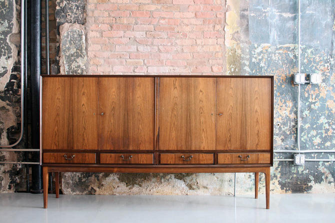 Tall Rosewood Credenza