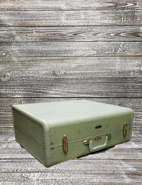 Vintage Samsonite Suitcase, Blue Tweed Samsonite Luggage, Blue Tweed Suitcase, Vintage Vacation, Film Photo Prop, Dog Bed, Vintage Luggage by AGoGoVintage