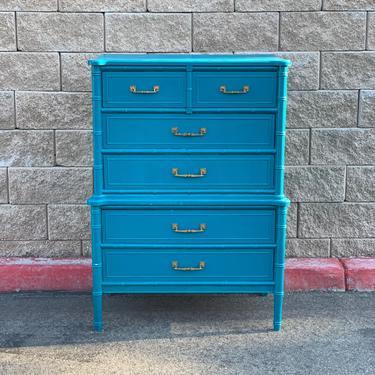 Ready for Customization Henry Link Bali Hai Tallboy / Highboy dresser chest of drawers by McKennaDesignCompany