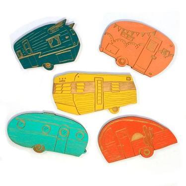 Vintage Trailer Magnets - Set of 5