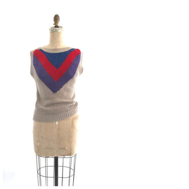 80s sweater vest | vintage color block sweater | 1980s sweater by harlowandspring