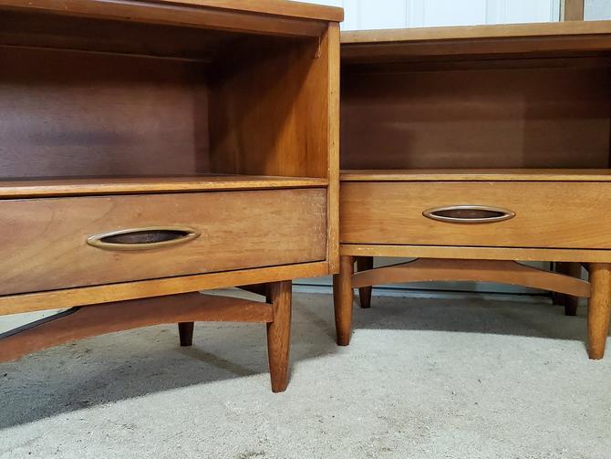 Mid Century Nightstands Side Tables Set of 2 by OrWaDesigns