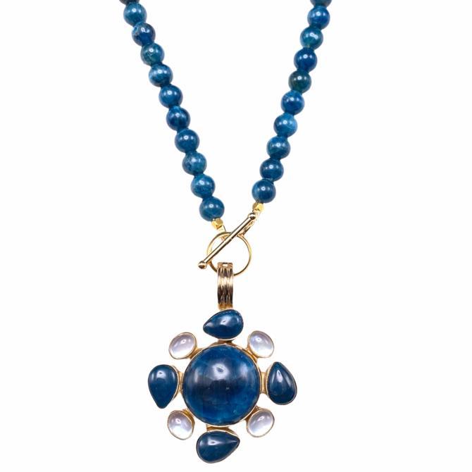 Apatite Mosaic Pendant Necklace