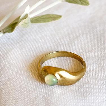 Dea Dia Aether Opal Brass Ring