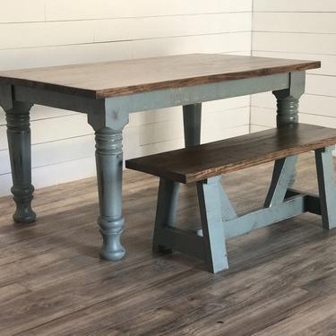 Chunky Leg Farmhouse Dining Table by HickoryandHaze