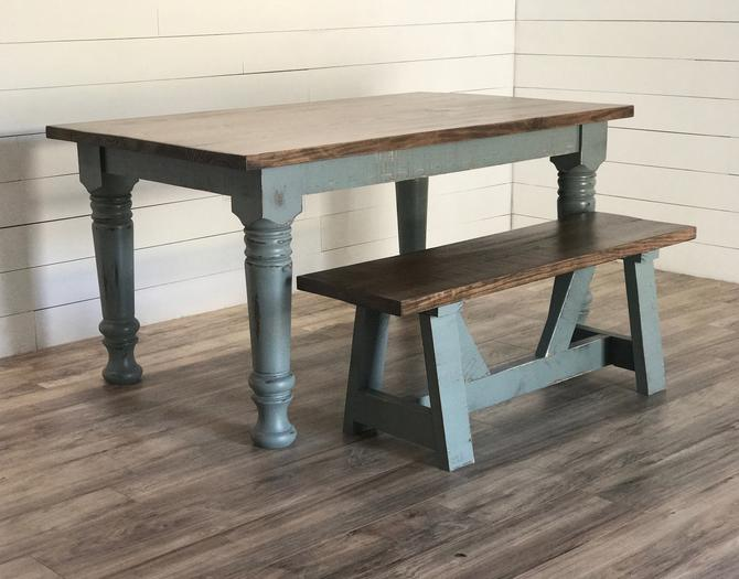 Chunky Leg Farmhouse Dining Table by HickoryandHaze
