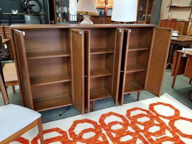 Mid-Century Modern walnut storage cabinet