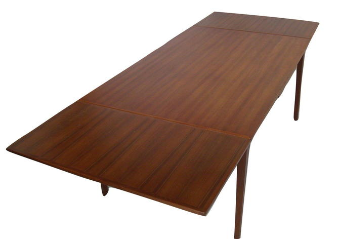 "Skovby Danish Modern Teak Pull Draw Leaf Dining Table 61"" to 102"" NEAR MINT"