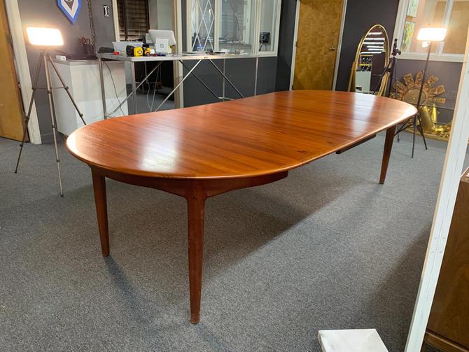 Rare massive danish dining table