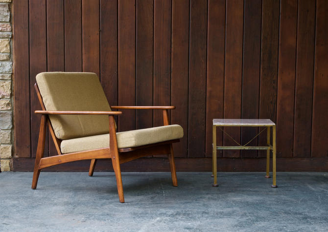 1960s Adrian Pearsall style Mid-Century Modern Lounge Chair Ash or Walnut Frame by BrainWashington