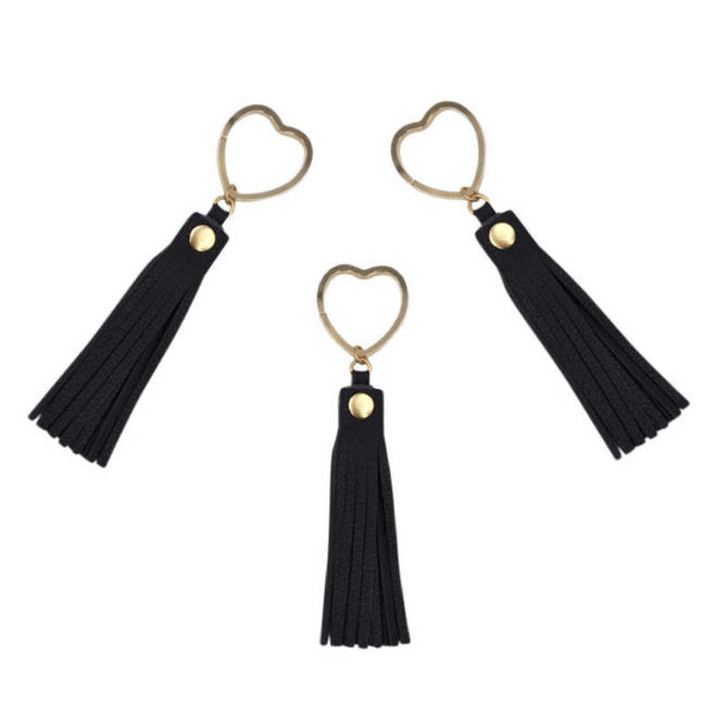 Heart Key Ring by Sarah Cecelia Black Tassel Key Ring by SarahCecelia