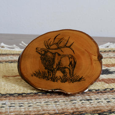 Rustic Western Southwestern Wood Belt Buckle with Elk Design, Cowboy Cowgirl, Glam, Boho, Bohemian, Mexican, South American by FORAGEmodernhome