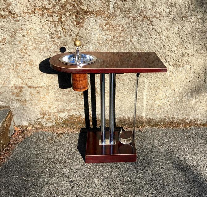 1936 Art Deco Ashtray Side Table, Belmet Products, Charles Hardy Design by Deco2Go
