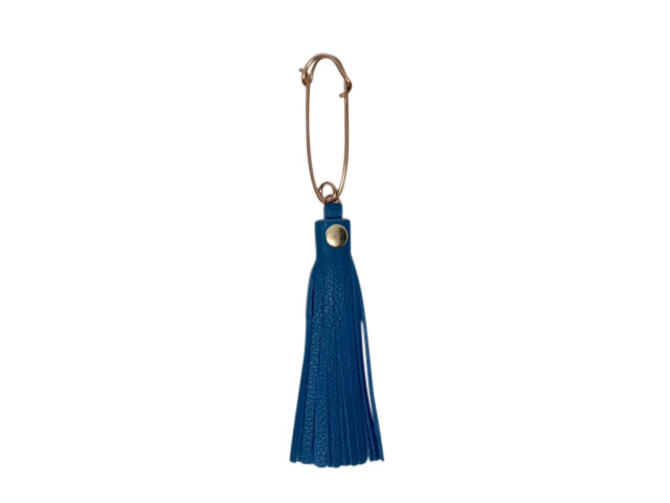 Kilt Pin Key Ring by Sarah Cecelia Blue Tassel Key Ring by SarahCecelia