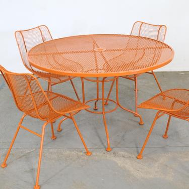 Mid Century Danish Modern Woodard Sculptura Table and 4 Side Chairs by AnnexMarketplace