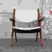 Vintage Midcentury Danish Sawbuck Chair