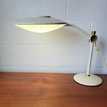 Atomic Style Saucer Lamp by Dazor