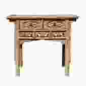 Chinese Vintage Drawer Raw Wood Rustic Side Table  cs5770S