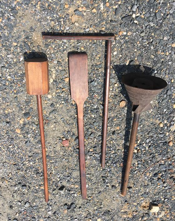 Antique Primitive Clothes Washing Tools Lot of Four Laundry Room Decor