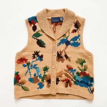 1980s Lizsport Cotton Knit Sweater Vest by waywardcollection