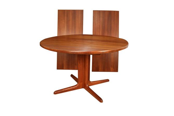 Mid Century Danish Teak Skovby Extendable Dining Table by Marykaysfurniture