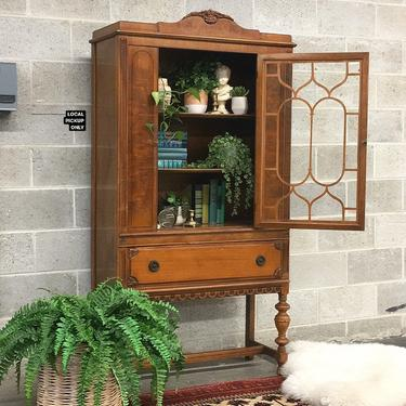 LOCAL PICKUP ONLY ———— Antique China Cabinet by RetrospectVintage215