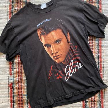 1990 Elvis Tee Vintage T-Shirt Elvis Presley Size L by NoSurrenderVintage