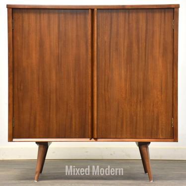 Wormley Drexel Walnut Credenza Cabinet by mixedmodern1