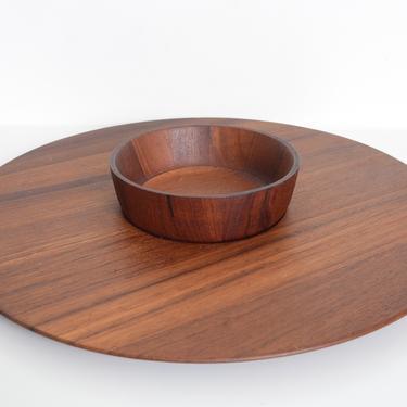 vintage Jens Quistgaard Staved Teak serving platter and bowl by fingerlickingvintage