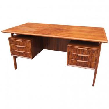 Rosewood Desk, Model 75, by Gunni Omann for Omann Jun Møbelfabrik