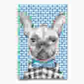 Grey French Bulldog Frenchie Tea Towel