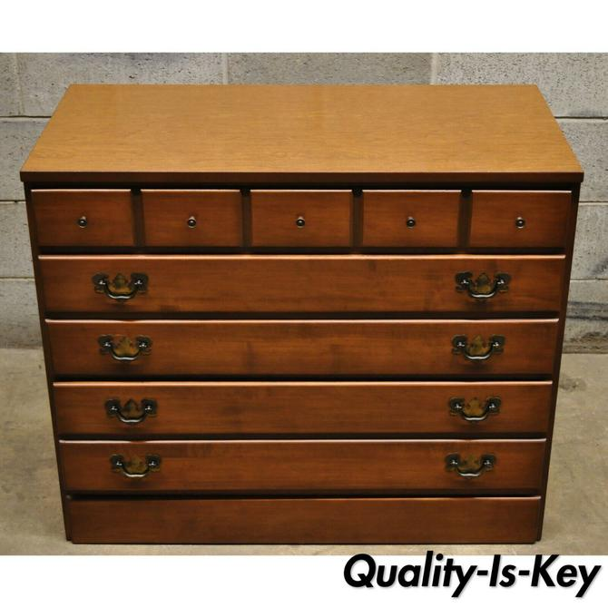 Maple and Laminate 3 Drawer Low Dresser Chest Ethan Allen Baumritter Style